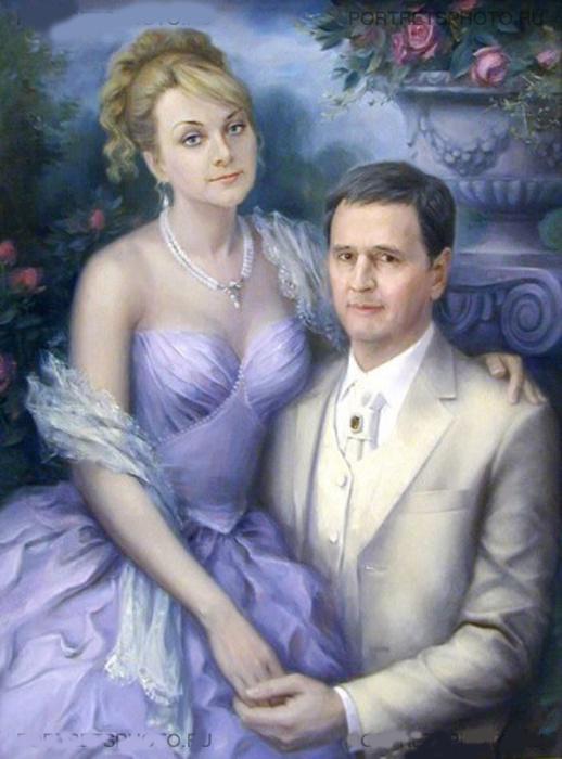 фотомонтаж муж с женой на природе - 1