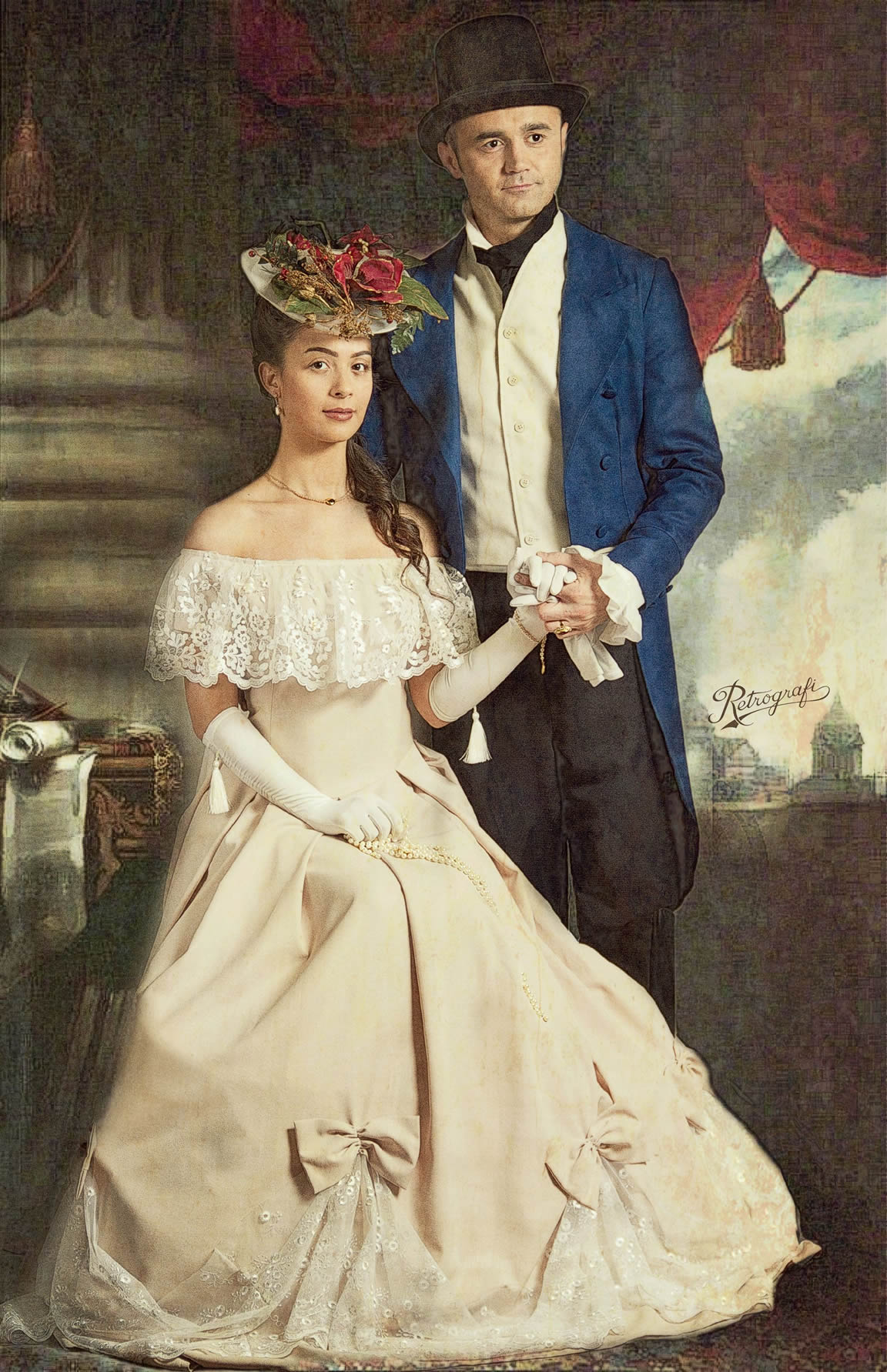 Фотомонтаж портреты аристократов